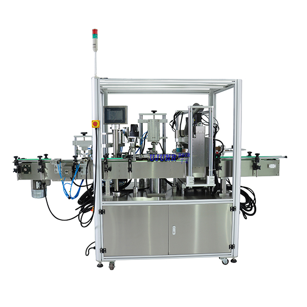 Linear Cylinder Wall Labeling Machine